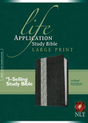 Life Application Study Bible NLT Large Print Floral TuTone
