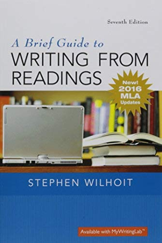 Brief Guide to Writing from Readings A MLA