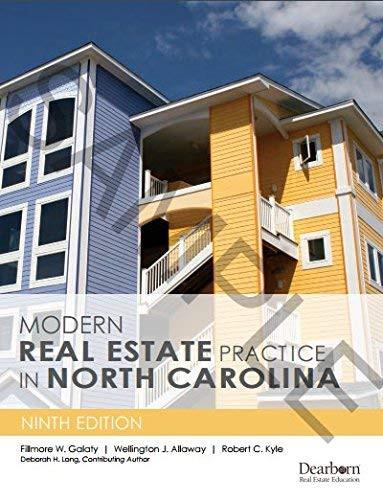 Modern Real Estate Practice In North Carolina