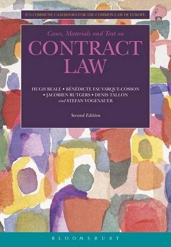 Cases Materials And Text On Contract Law