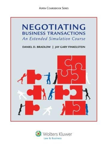 Negotiating Business Transactions