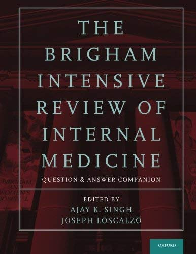 Brigham Intensive Review Of Internal Medicine Question And Answer Companion