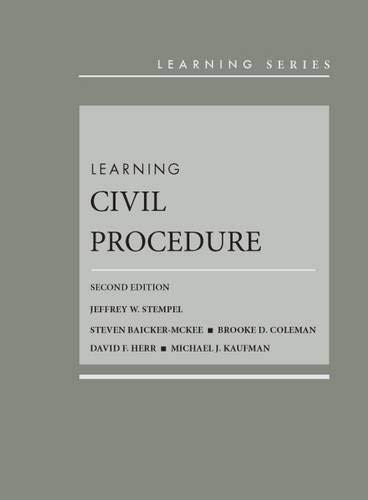 Learning Civil Procedure