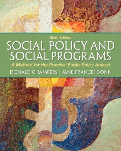 Social Policy And Social Programs