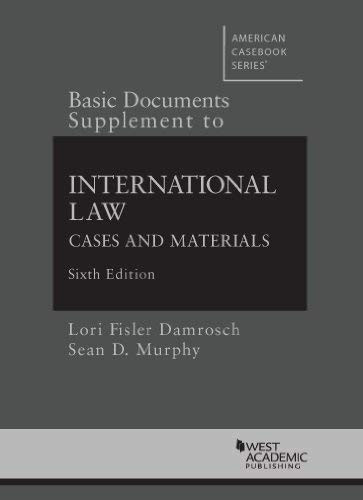 Supplement To International Law Cases And Materials