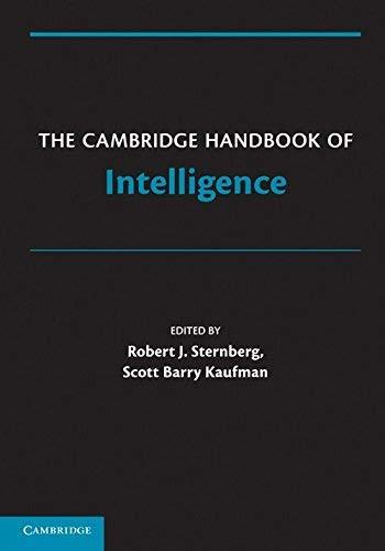 Cambridge Handbook Of Intelligence