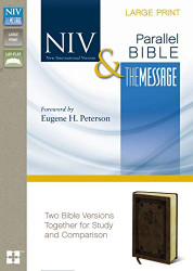 NIV The Message Parallel Bible Large Print Imitation Leather Brown