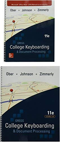 Gregg College Keyboarding And Document Processing Lessons 1-60