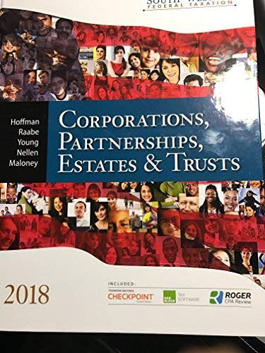 South-Western Federal Taxation Corporations Partnerships Estates And Trusts