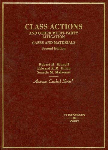 Class Actions And Other Multi-Party Litigation