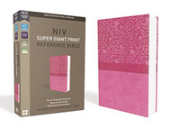 NIV Super Giant Print Reference Bible Leathersoft Pink Red Letter Edition