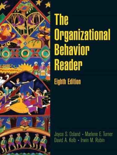 Organizational Behavior Reader
