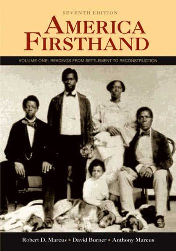 America Firsthand Volume 1
