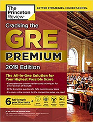 Cracking the GRE with 6 Practice Tests 2019