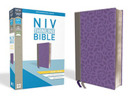 NIV Thinline Bible Giant Print Leathersoft Gray/Purple Red Letter Edition