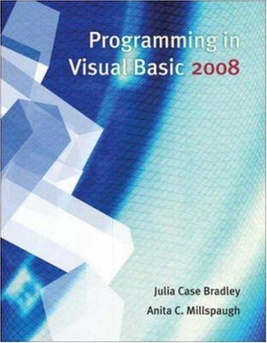 Programming In Visual Basic