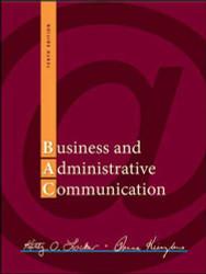 Business And Administrative Communication   - Kitty Locker