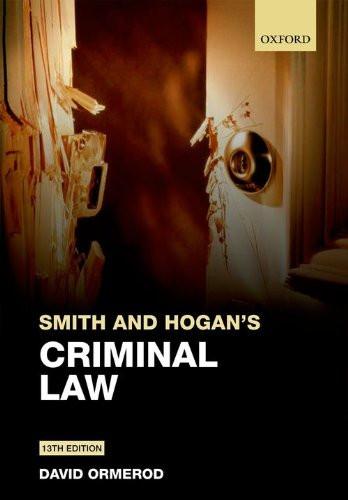 Smith And Hogan & Ormerod's Criminal Law