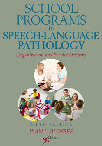 School Programs In Speech-Language Pathology