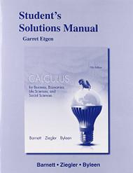 Student's Solutions Manual for Calculus for Business Economics Life Sciences & Social Sciences