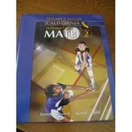 Middle School Math California Teacher'S Edition Course 2 2008