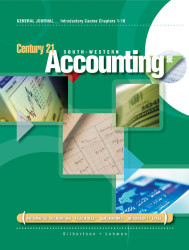 Century 21 General Journal Accounting Anniversary Edition Introductory Course Chapters 1-17