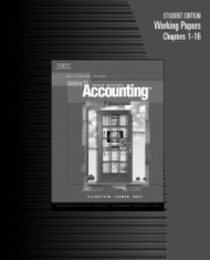 Working Papers Chapters 1-16 for Gilbertson/Lehman/Ross' Century 21 Accounting: Multicolumn Journal 8th