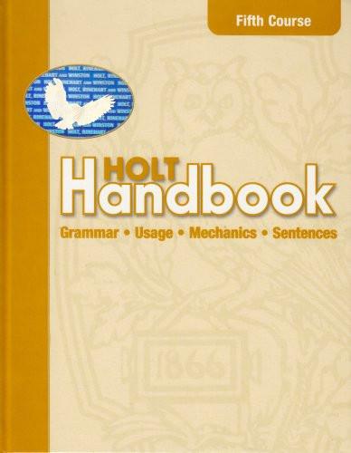 Handbook Student Edition Fifth Course