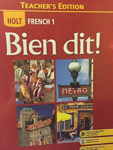 French 1 Bien Dit! Teacher's Edition