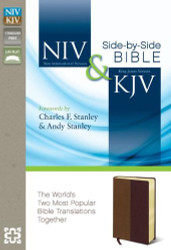 NIV KJV Side-by-Side Bible Imitation Leather Tan/Burgundy: God's Unchanging Word Across the Centuries
