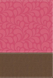 NIV Women's Devotional Bible Large Print Leathersoft Brown/Pink