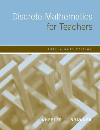 Discrete Mathematics For Teachers