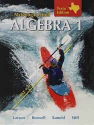Mcdougal Larson Algebra 1 Texas Students Edition Algebra 1