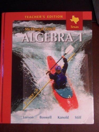 Algebra 1 Teachers Edition