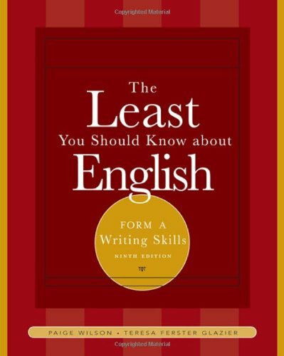 Least You Should Know About English Writing Skills Form A