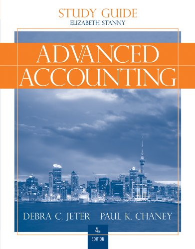 Advanced Accounting Study Guide With Working Papers In Excel
