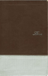 NIV Couples' Devotional Bible Imitation Leather Brown/Silver