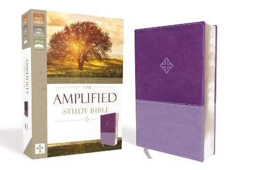 Amplified Study Bible Leathersoft Purple