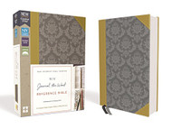 NIV Journal the Word Reference Bible Leathersoft Gold/Gray Red Letter