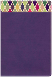 CSB Rainbow Study Bible Purple LeatherTouch