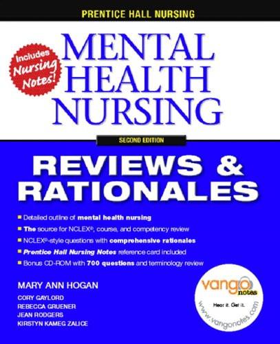 Mental Health Nursing  Reviews & Rationales