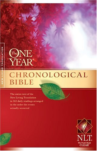 One Year Chronological Bible Nlt By Tyndale border=