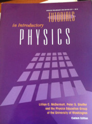 Tutorials in Introductory Physics Updated Preliminary