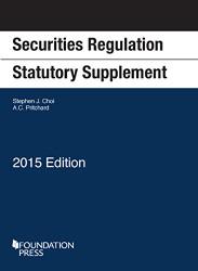 Securities Regulation Statutory Supplement