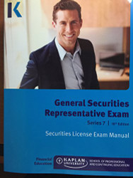 Kaplan Series 7 Securities License Exam Manual General Securities