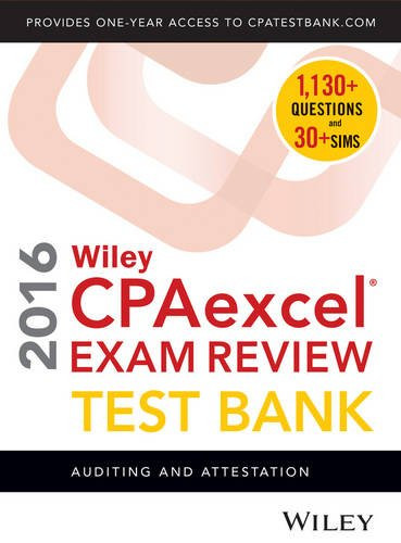Wiley CPAexcel Exam Review Study Guide Auditing and Attestation