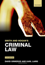 Smith and Hogan & Ormerod's Criminal Law