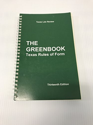 Texas Rules of Form the Greenbook