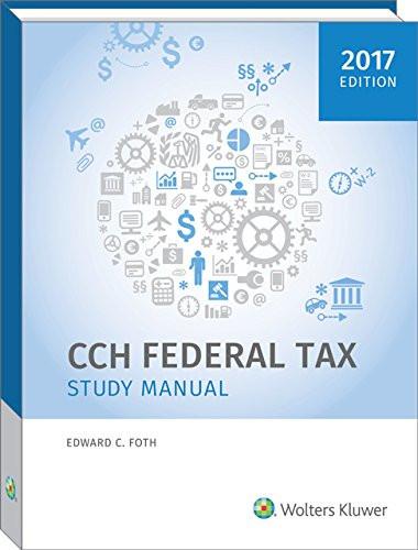 Federal Tax Study Manual