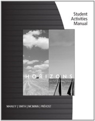 Student Activities Manual For Manley/Smith/Mcminn/Prevost's Horizons